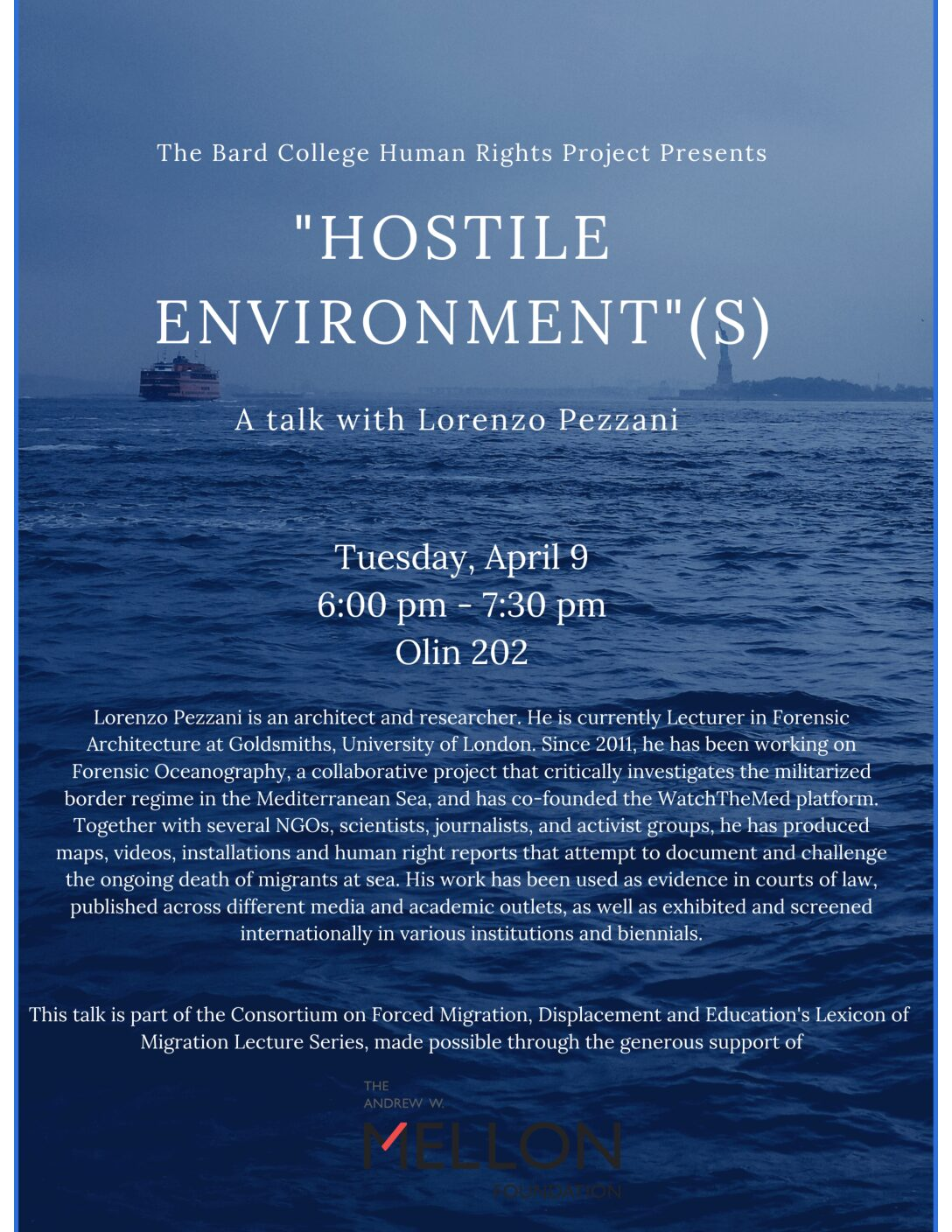 Hostile Environments: A talk with Lorenzo Pezzani of Forensic